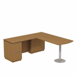 L Shaped Desk With Locking Drawers
